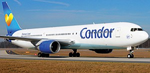 Germany's Condor Airlines plans a May 2017 start for new direct seasonal flights between San Diego and Frankfurt. Photo courtesy of Condor Airlines
