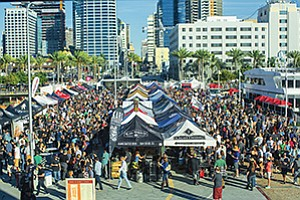 An estimated 2,700 people came to downtown San Diego for Guild Fest, the opening-day event for the 2016 San Diego Beer Week. The 10-day Beer Week, held in November, drew visitors from around the U.S. and from other countries. San Diego County remains among the nation's largest craft beer clusters, with 131 licensed breweries and brewpubs now operating. Photo courtesy of San Diego Brewers Guild, Jim Sloan