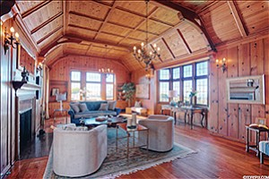The living room of 6240 Waverly Ave. in the Upper Hermosa area of La Jolla that is on the market for the first time in 50 years.  Photo courtesy of San Diego Real Estate Pix