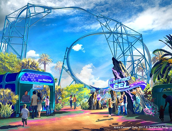 Electric Eel – Rendering courtesy of SeaWorld San Diego