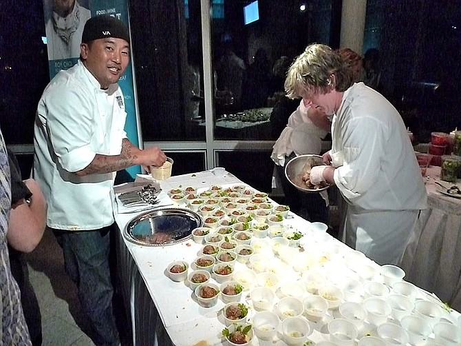 Roy Choi from Koji BBQ at Aspen Food & Wine Fest in 2010.