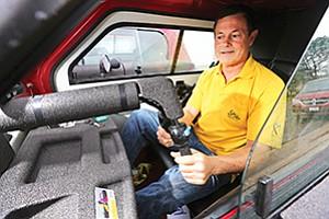 Lon Ballard developed the energy-efficient, three-wheeled Spira to reduce motor vehicle deaths.