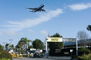 Taking Off: Hertz Rental Car outpost that will be consolidated into a future facility near LAX.