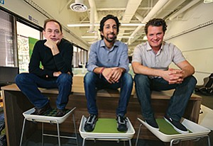 CEO Andy Taylor, right, recruited Navtej Sadhal, middle, and Mark Pitman to join the team at Approved, a web-based platform for mortgage lenders.
