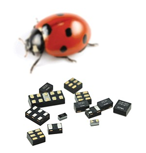 NXP Semiconductors' 'small package' microchips are smaller than a common ladybug. Photos courtesy of NXP Semiconductors N.V.