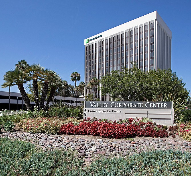 Valley Corporate Center in Mission Valley -- Photo courtesy of CBRE Group Inc.