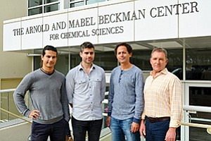 Vividion Therapeutics was founded on a study authored by (left to right) The Scripps Research Institute's Andrea Galmozzi, Christopher Parker, Ben Cravatt and Enrique Saez. Photo courtesy of The Scripps Research Institute