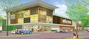 According to Sudberry Properties, Whole Foods is still slated to open a new store at the developer's upcoming new mixed-use development in Scripps Ranch, called The Watermark. Rendering courtesy of Sudberry Properties