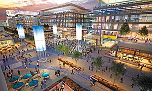 "An investment team has put forward concept plans for the mixed-use ""SoccerCity,"" on the current Mission Valley site of Qualcomm Stadium. Plans include a new MLS soccer stadium that could also be used for college football and other events; a mixed-use district with restaurants, bars, stores and live entertainment; and 55 acres of parkland, including an expanded San Diego River park and community recreation fields. Renderings courtesy of FS Investors, Gensler"