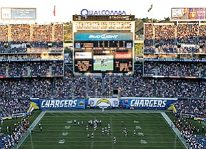 Developer Douglas Manchester is proposing to renovate, not demolish Qualcomm Stadium -- Jamie Scott Lytle