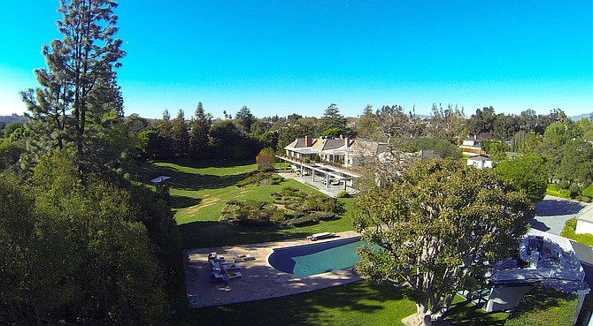 Photo of the Bob Hope Estate courtesy of listing agent Craig Strong of John Aaroe Group.