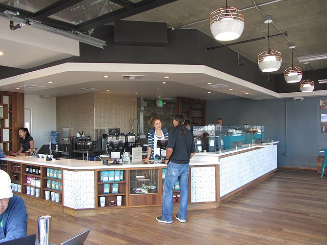 La Jolla-based Bird Rock Coffee Roasters opened this Little Italy location in 2014 -- Photo courtesy of Bird Rock Coffee Roasters