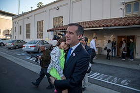 Building Steam: L.A. Mayor Eric Garcetti opposed Measure S, calling its defeat a necessary step for affordable housing in L.A.
