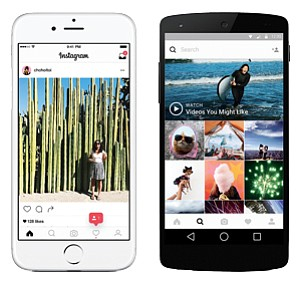 Mirrored Image: Facebook's Instagram app has reproduced features available on Snapchat.