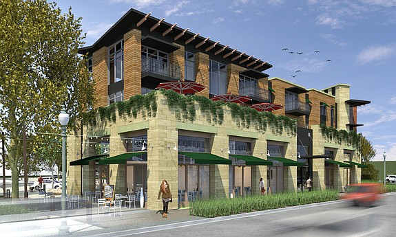 Carlsbad Village Lofts -- Rendering courtesy of AVRP Skyport Studios