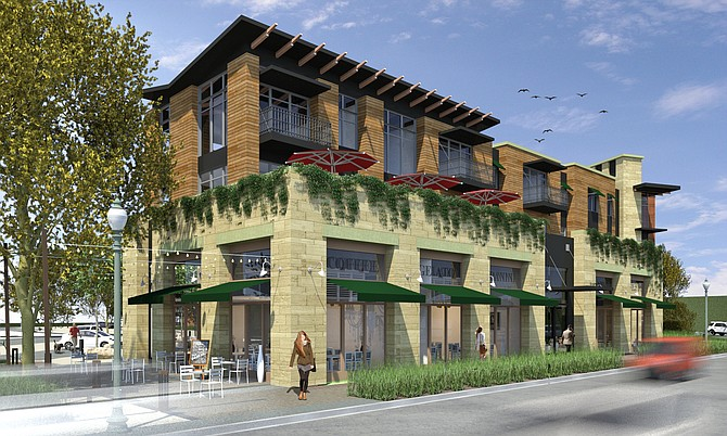 Carlsbad Village Lofts -- Rendering courtesy of AVRP Skyport Studios
