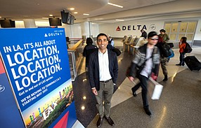 No Reservations: Ranjan Goswami is coordinating the effort at LAX for Delta Air Lines.