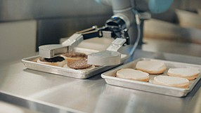 Proving Mettle: Caltech engineering trio developed Miso's cooking robot, 'Flippy.'