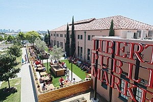 With about 30 vendors, Liberty Public Market is drawing steady indoor and outdoor crowds to a renovated former mess hall at the mixed-use Liberty Station in Point Loma. Photos courtesy of Robert Benson, 