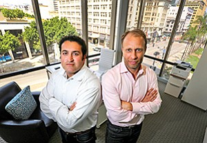 Navid Alipour, left, co-founder of Analytics Ventures, and Managing Partner Andreas Roell are facing criticism from San Diego's startup community for not investing in more startups.