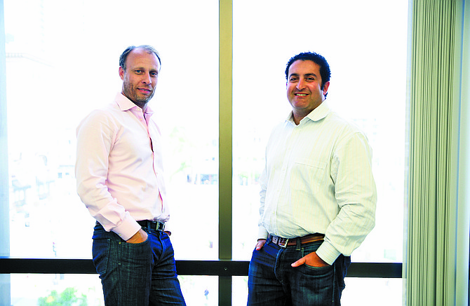 Managing partner Andreas Roell (left), and Navid Alipour, co-founder and managing partner of Analytics Ventures. Photo by Jamie Scott Lytle.