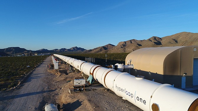 Hyperloop One demo track. Photo courtesy of Hyperloop One.