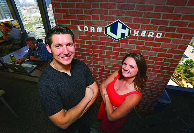 Derek Barclay and Kristin Slink, co-founders of LoanHero.