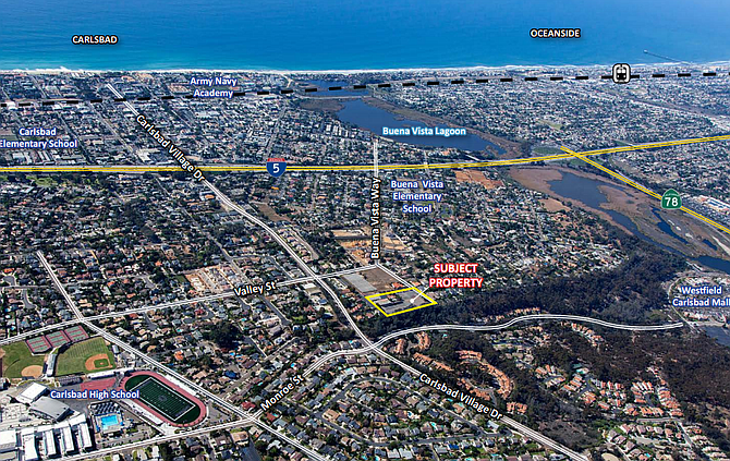 1833 Buena Vista Way off Carlsbad Village Drive -- Photo/map courtesy of Lee & Associates