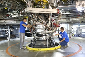 Fired Up: Aerojet Rocketdyne engine.