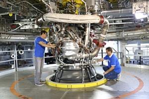 Fired Up: Aerojet Rocketdyne engine.