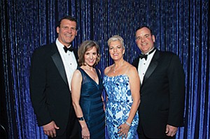 Jim Frager, left, Devon Frager, Julie Mayer, Robert Mayer were event chairs for Scripps Mercy Hospital's 45th annual Mercy Ball. Photo courtesy of Scripps Mercy Hospital