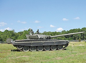 Kratos Defense & Security Solutions Inc. has successfully fitted a Russian tank with a remote control system. Controls are in the trailer. Kratos' customer — the U.S. Army — plans to use the tank for target practice. Photos courtesy of Kratos Defense & Security Solutions Inc.