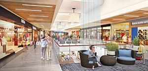 A regional mall currently undergoing a significant makeover. Renderings courtesy of Rouse Properties