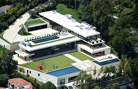 The Bel Air spec home was built by McKillen Developments of Beverly Hills and designed by architect Paul McClean of Orange's McClean Design.