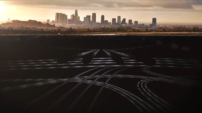 Elon Musk revealed on Friday a conceptual video of a multi-storied tunnel system under the city of Los Angeles, which he aims to build with his startup Boring Co.