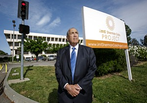 Advocate: Richard Close of the Sherman Oaks Homeowners Association at former Sunkist building.