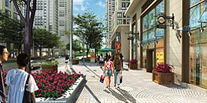"""Rendering courtesy of Civic San Diego City and business leaders envision a walkable """"College Town"""" atmosphere for the College Area, spurred by the recent opening of projects including South Campus Plaza at San Diego State University."""