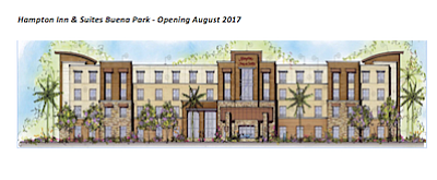 Rendering: Hampton Inn & Suites in Buena Park