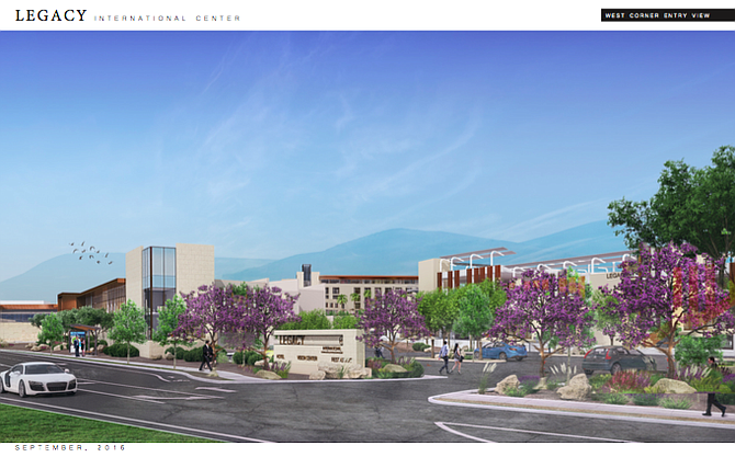 Rendering courtesy of Legacy International Center, Carrier Johnson + Culture