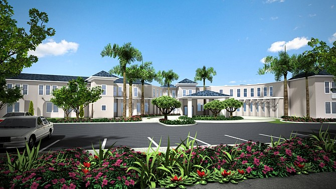 A planned new assisted-living and memory care facility in Chula Vista -- Rendering courtesy of Douglas Wilson Cos., Cushman & Wakefield