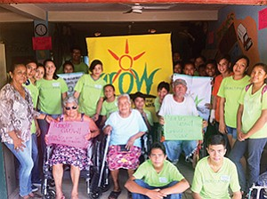 A group of citizens from Colima, Mexico, gather to thank Project Amigo and Organics Unlimited for a grant that provides community health programs and access to education for its youth.  Photo courtesy of Organics Unlimited