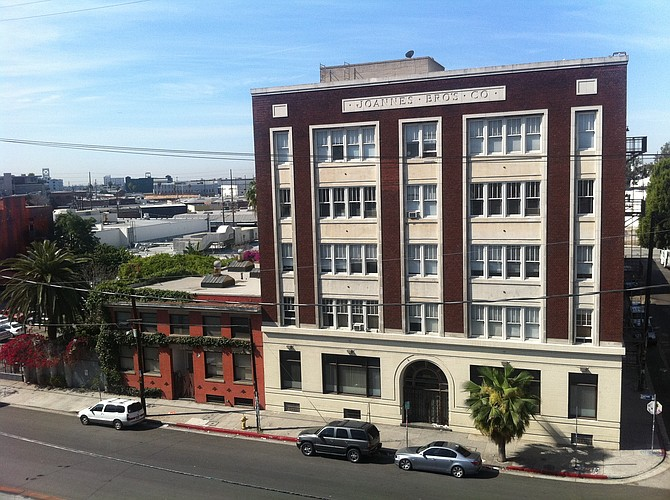 This building at 800 Traction Ave. in the Arts District and a neighboring structure were sold for $20 million.