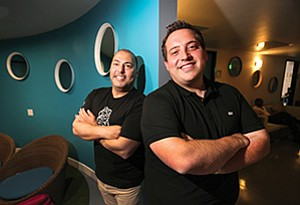 Jack Makhlouf, left, is chief learning architect at eLearning Mind while Simon Casuto is president. The company believes corporate training should be neither stale nor dull.