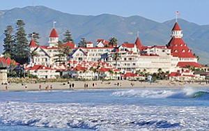Six months after its planned sale to a Chinese insurance company was called off, the iconic Hotel del Coronado remains in the portfolio of Blackstone Group. Photo courtesy of CoStar Group