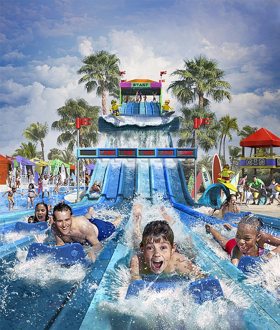 Legoland California Resort in Carlsbad has a June opening planned for its new Surfers' Cove attraction. -- Rendering courtesy of Legoland California Resort