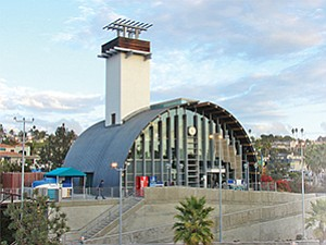 Transit officials will be negotiating with an Encinitas developer on a potential mixed-use development of land surrounding the Solana Beach Transit Center. Photo courtesy of North County Transit District