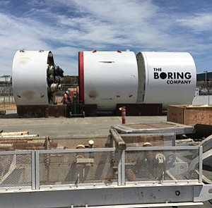 Underground Sensation: Boring Co.'s tunneling machine, Godot.