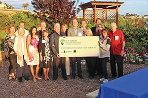 The Carlsbad Charitable Foundation celebrated its 10th Annual Grants Awards Celebration with a donation to Interfaith Community Services.  Photo courtesy of the Carlsbad Charitable Foundation