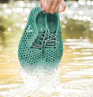 Algae can be used instead of petrochemicals to make shoes and other products. Photo courtesy of BLOOM Holdings Inc.