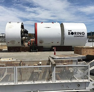 Digging It?: Boring Co.'s tunneling machine, which Elon Musk plans to speed up.